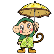 オレンジの猿